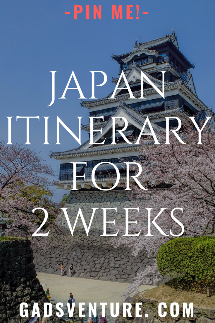 Japan itinerary - 2 weeks