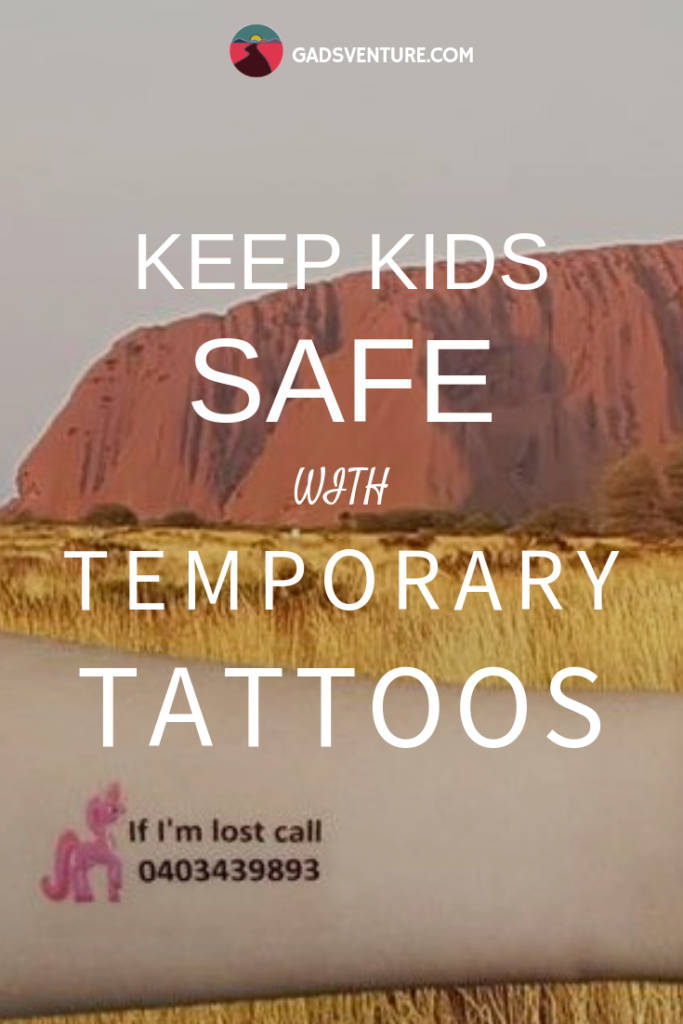 Keep Kids Safe with Temporary Tattoos. #Tattoos #Kids #Kidsafety #Familytravel