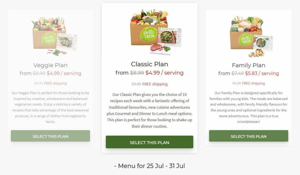hello fresh food delivery